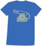 T-shirt Heren - Brightblue - Maat L