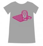 T-shirt Ladies - Melange Grey - Size M