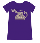T-shirt Dames - Purple - Maat L