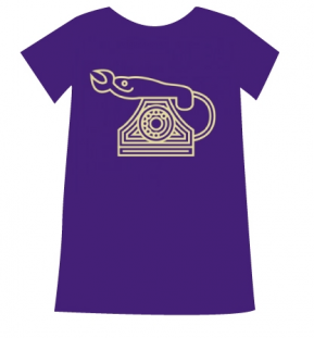 T-shirt Ladies -Purple - Size L